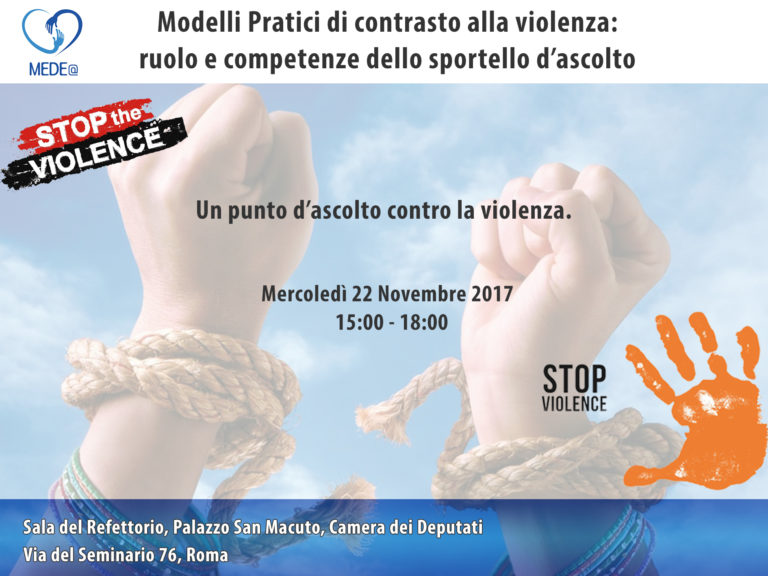 Progetto Medea | Evento22Novembre2017